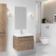 Drewno i biel – przepis na harmonię w łazience